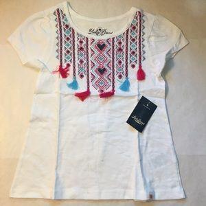 Girls Lucky Brand Short sleeve Top Boho design 6
